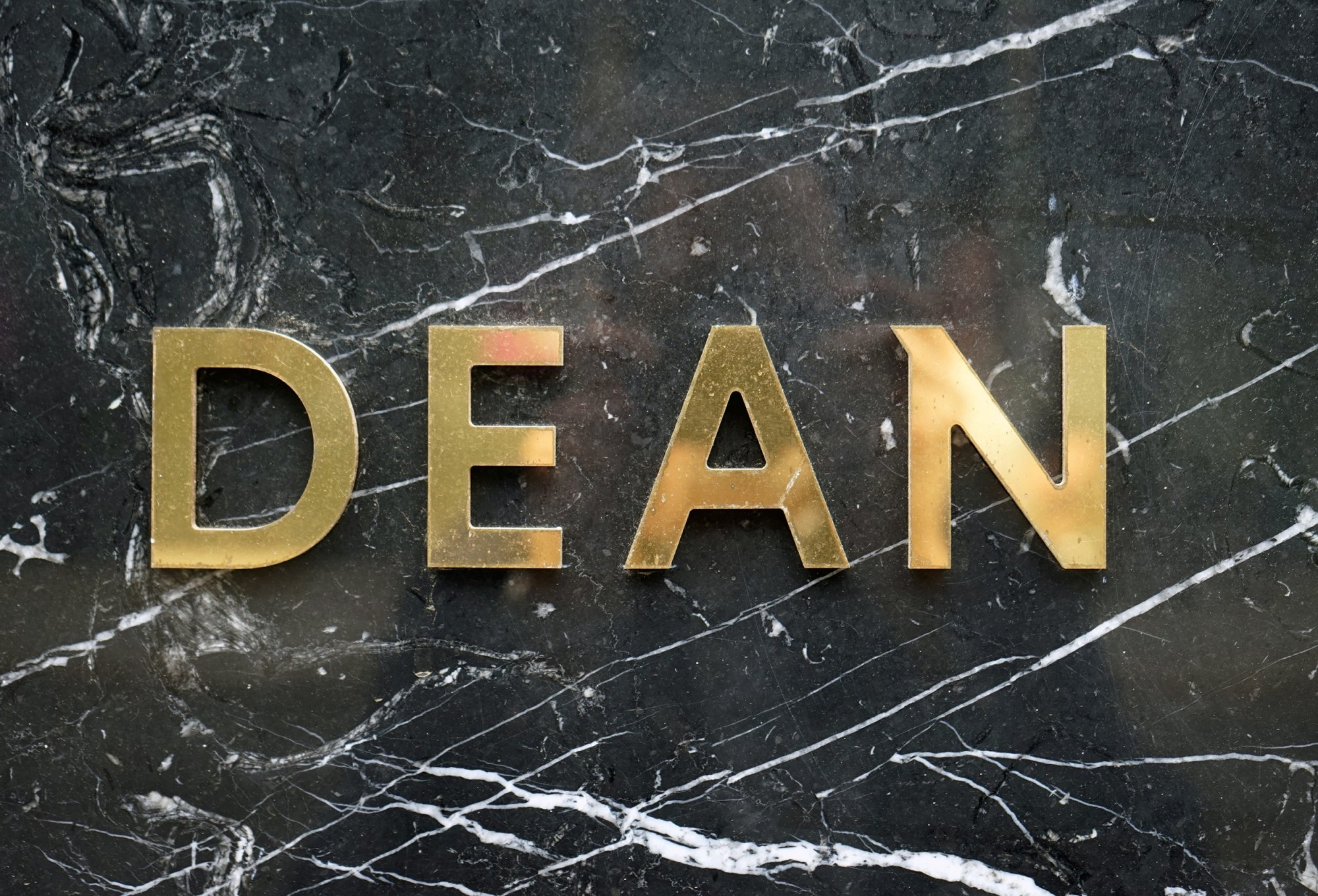 Dean Sign Gold Marble